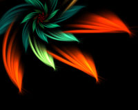 Abstract flower. Digitally generated abstract flower background Stock Photos