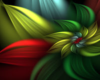 Abstract flower. Digitally generated abstract flower background Stock Images