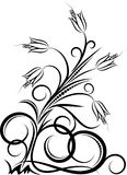 Abstract flower. Elegant abstract flower. Vector illustration Royalty Free Stock Photo