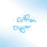 Abstract flower aqua design Royalty Free Stock Photography
