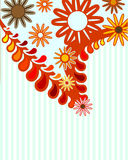 Abstract flower background. Abstract natural background, preparation for the designer Royalty Free Stock Photos