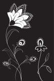Abstract flower background. Illustration vector illustration