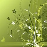 Abstract flower background stock illustration