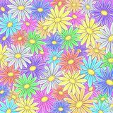 Abstract flower background. Abstract vector background with a various symbolical flowers Stock Image
