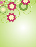 Abstract flower background. Abstract flower vector background. Element for design Stock Photography