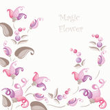 Abstract flower background 1 Stock Photos