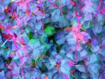 Abstract Flower Background. A complex abstract pattern of colourful flower petals and stems, making a soft blurred cool colour background image royalty free stock image