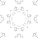 Abstract flower background, contour Royalty Free Stock Image