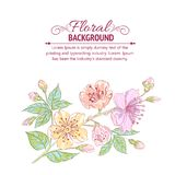 Abstract flower background Royalty Free Stock Photos