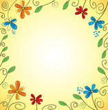 Abstract flower. Background with abstract flowers, which has a wide field of application Stock Images
