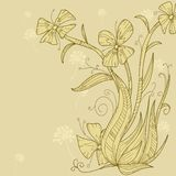 Abstract flower background hand draw Royalty Free Stock Images