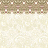 Abstract flower background. Hand draw ornate abstract flower background Stock Images