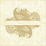 Abstract flower background. Hand draw ornate abstract flower background Royalty Free Stock Image