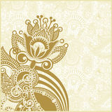 Abstract flower background. Hand draw ornate abstract flower background Royalty Free Stock Photos