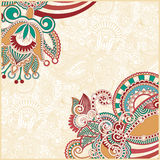 Abstract flower background. Hand draw ornate abstract flower background Royalty Free Stock Images
