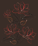 Abstract flower background. With paint effect. Vector Royalty Free Stock Image
