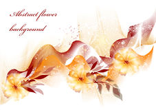 Abstract flower background with space for text Royalty Free Stock Photo