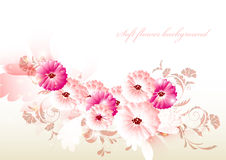 Abstract flower background with space for text Stock Image