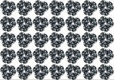 Abstract_flower_background_stars Arkivfoto