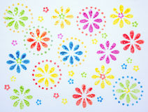 Abstract flower blooms pattern watercolor painting. Abstract flower bloom pattern watercolor painting Stock Photo
