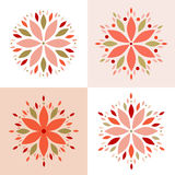 Abstract flower blossom set Stock Photography