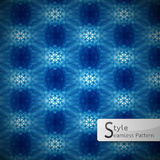 Abstract flower blue cyan lattice sparkling diamond vintage  Royalty Free Stock Photo