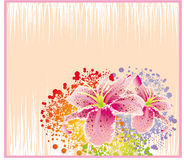Abstract Flower Card Stock Photo