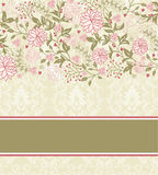 Abstract flower card with place for text Stock Photography