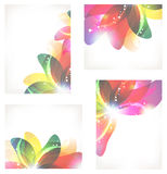 Abstract flower cards Stock Photography