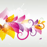Abstract flower color. Abstract colored flower with splashes and swirls vector illustration