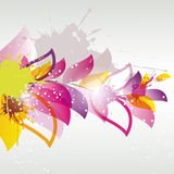 Abstract flower color. Abstract colored flower with splashes and swirls stock illustration