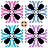 Abstract flower with color variations. On white background Stock Photo