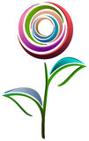 Abstract flower. Abstract colorful flower design on white background stock illustration