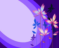 Abstract flower on colorful stripe background. Vector creative stock illustration