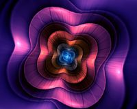 Abstract flower fractal shape Stock Photography