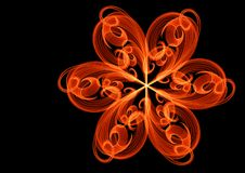 Abstract flower curl line unusual bright background illustration Stock Images