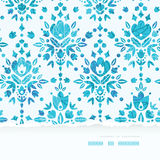 Abstract Flower Damask Horizontal Torn Seamless Stock Photo