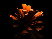 Abstract flower design. Artistic design resembling an abstract flower blossom.  Black background Stock Photos