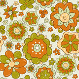 Abstract flower design. Seamless floral pattern with abstract flower design Stock Images