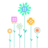 Abstract flower design. With cloth button Royalty Free Stock Photography