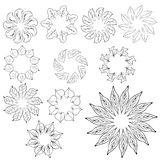 Abstract flower design elements Stock Images