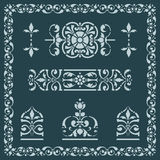 Abstract flower design elements Royalty Free Stock Images