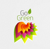 Abstract flower design. Go Green concept Stock Images