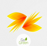 Abstract flower design. Go Green concept Royalty Free Stock Photography