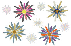 Abstract flower designs Royalty Free Stock Photography