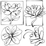 Abstract Flower Drawing Stock Image