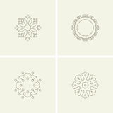Abstract flower elements Stock Images