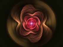 Abstract flower fractal red shape Stock Photography