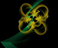 Abstract flower fractal shape Stock Images