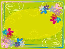 Abstract flower frame Stock Images